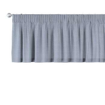 Gardinkappe med rynkebånd fra kolleksjonen Quadro, Stoffets bredde: 136-00