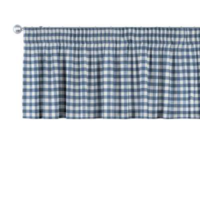Lambrekin na taśmie marszczącej w kolekcji Quadro, tkanina: 136-01