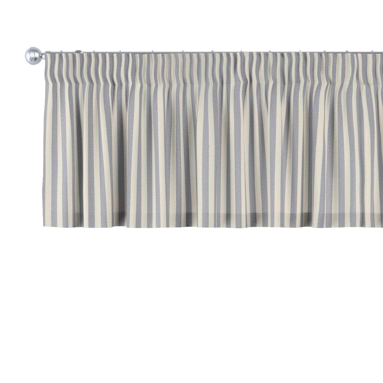 kurzgardine mit kr uselband marinenblau ecru 130 40. Black Bedroom Furniture Sets. Home Design Ideas