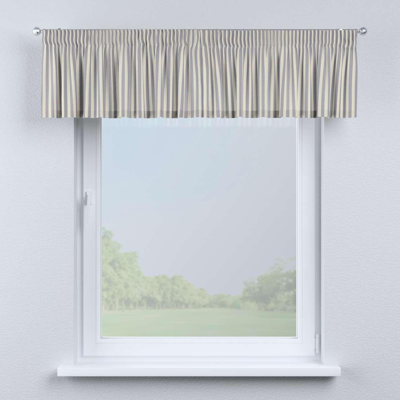 Pencil pleat pelmet 130 x 40 cm (51 x 16 inch) in collection Quadro, fabric: 136-02
