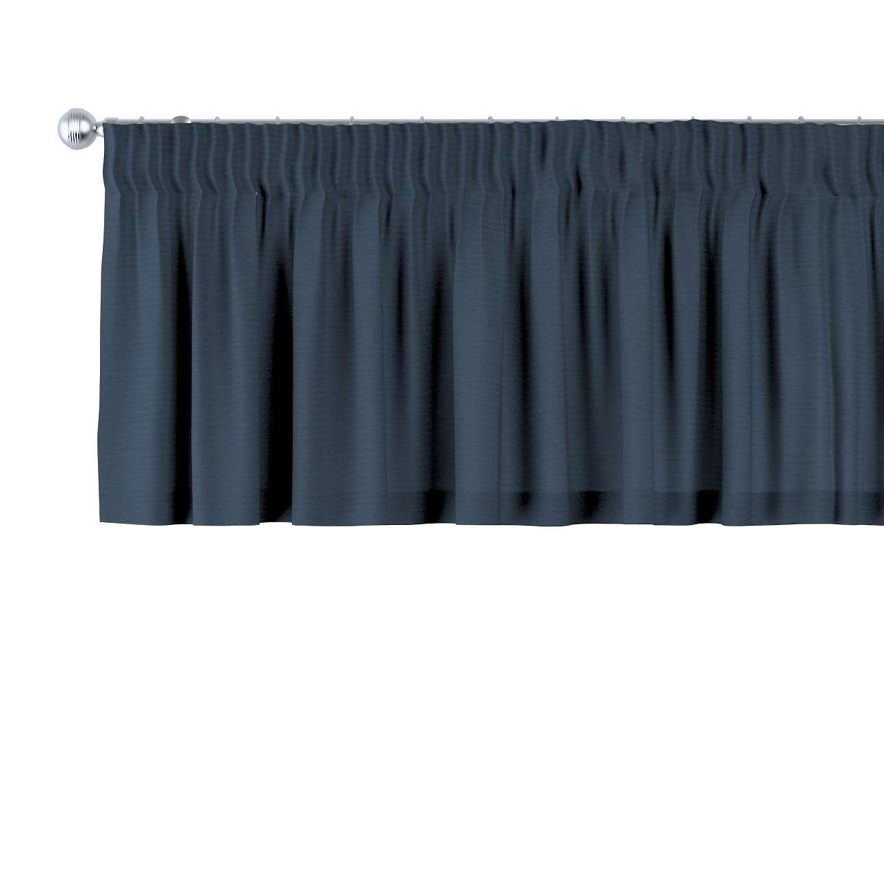 Gardinkappe med rynkebånd 130 x 40 cm fra kolleksjonen Quadro, Stoffets bredde: 136-04