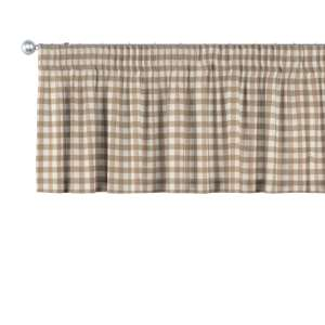 Trumpa užuolaidėlė (lambrekenas) pieštukinis klostavimas 130 x 40 cm kolekcijoje Quadro, audinys: 136-06