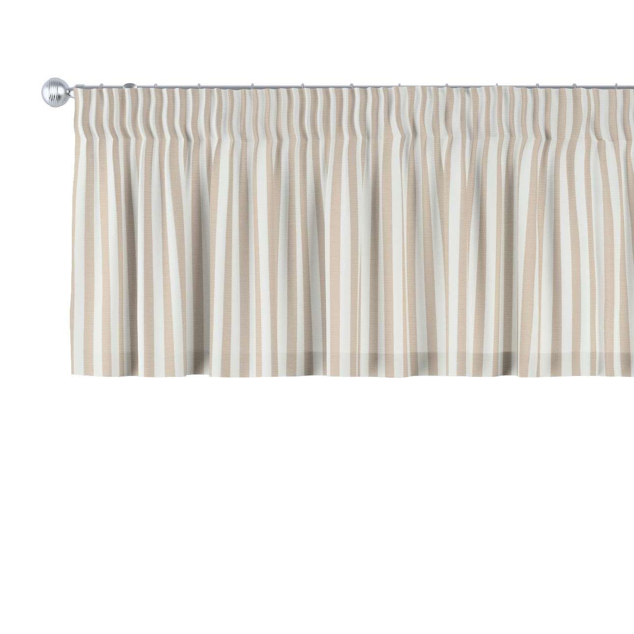 Lambrekin na taśmie marszczącej 130 x 40 cm w kolekcji Quadro, tkanina: 136-07
