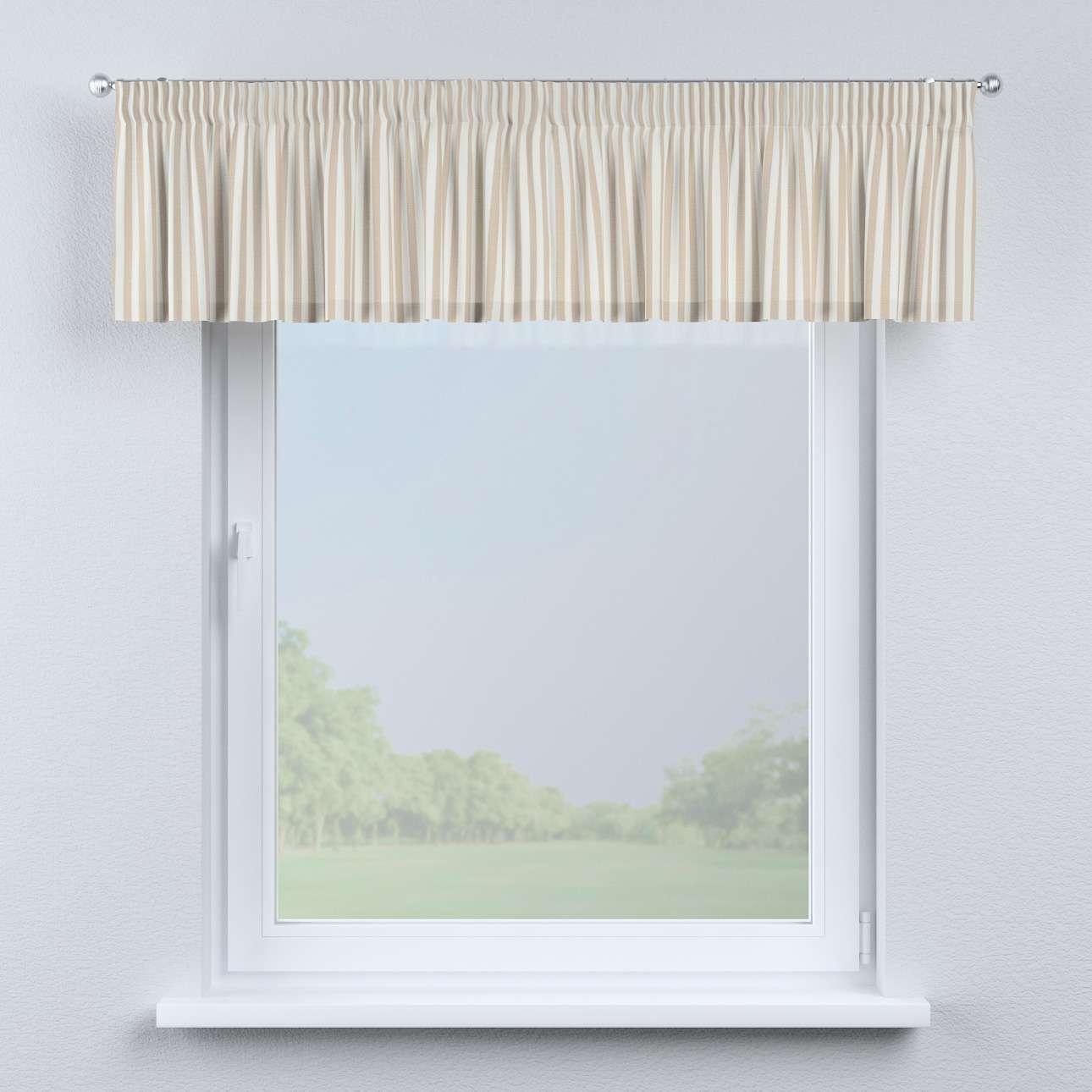 Krátky záves na riasiacej páske 130 x 40 cm V kolekcii Quadro, tkanina: 136-07