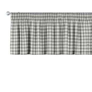 Lambrekin na taśmie marszczącej 130 x 40 cm w kolekcji Quadro, tkanina: 136-11