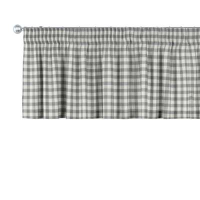 Kurzgardine mit Kräuselband von der Kollektion Quadro, Stoff: 136-11