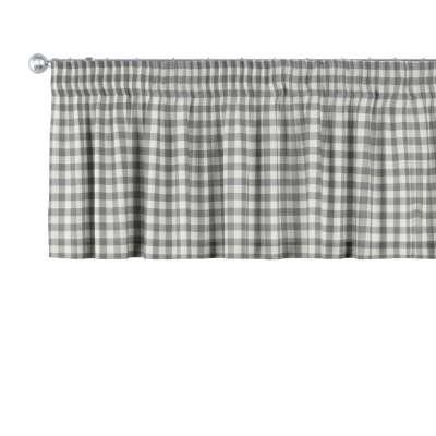 Kurzgardine mit Kräuselband 136-11 grau-ecru  Kollektion Quadro