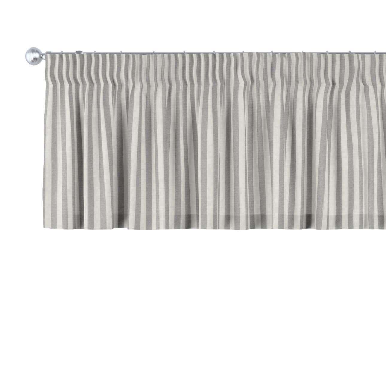 Trumpa užuolaidėlė (lambrekenas) pieštukinis klostavimas 130 x 40 cm kolekcijoje Quadro, audinys: 136-12
