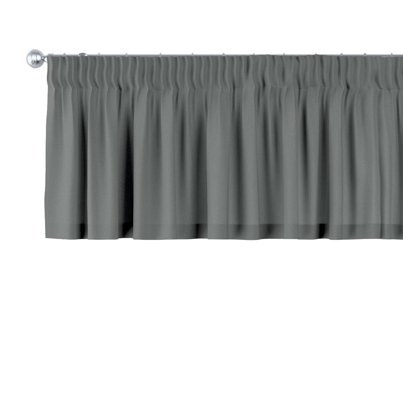 Pencil pleat pelmet in collection Quadro, fabric: 136-14