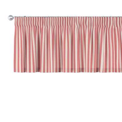 Krátky záves na riasiacej páske 136-17 červeno-biele prúžky Kolekcia Quadro