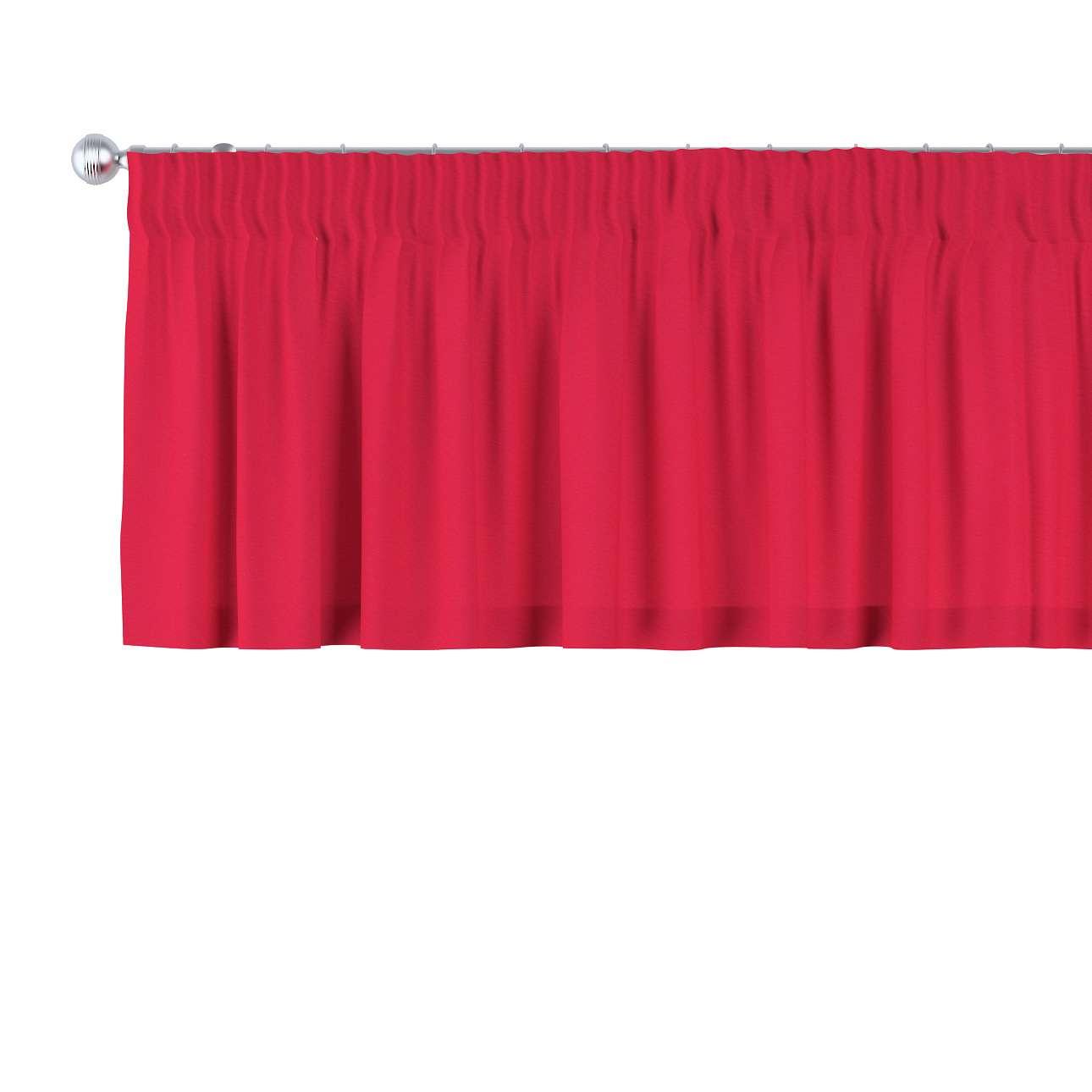 Gardinkappe med rynkebånd 130 x 40 cm fra kolleksjonen Quadro, Stoffets bredde: 136-19