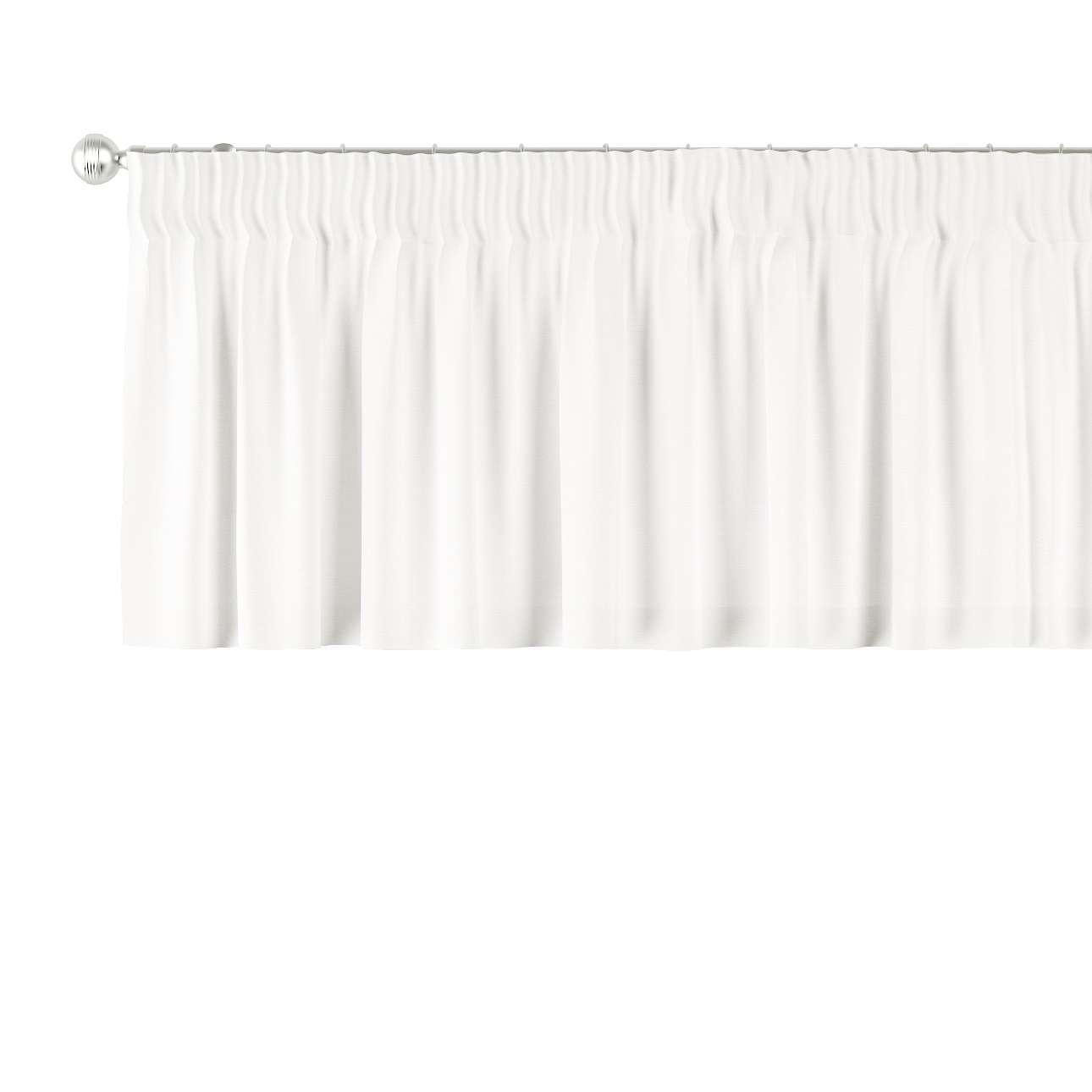Trumpa užuolaidėlė (lambrekenas) pieštukinis klostavimas 130 x 40 cm kolekcijoje Cotton Panama, audinys: 702-34