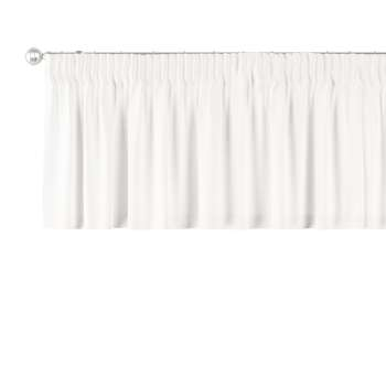 Pencil pleat pelmet 130 x 40 cm (51 x 16 inch) in collection Cotton Panama, fabric: 702-34