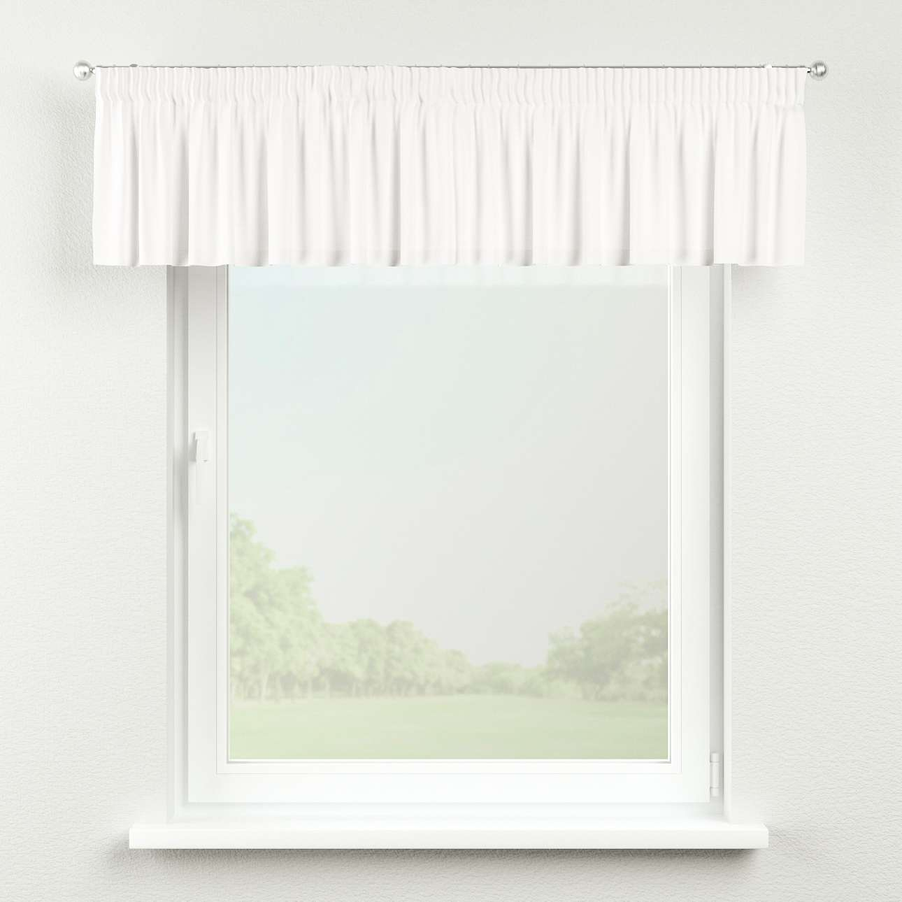 Kurzgardine mit Kräuselband 130 x 40 cm von der Kollektion Cotton Panama, Stoff: 702-34