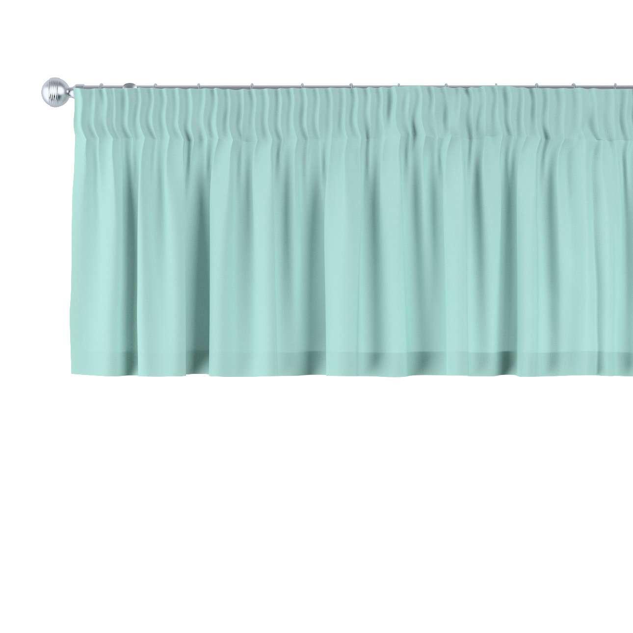 Pencil pleat pelmet 130 x 40 cm (51 x 16 inch) in collection Loneta , fabric: 133-32