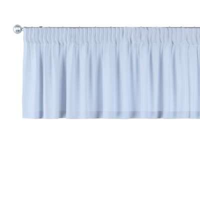 Kurzgardine mit Kräuselband 133-35 hellblau Kollektion Loneta
