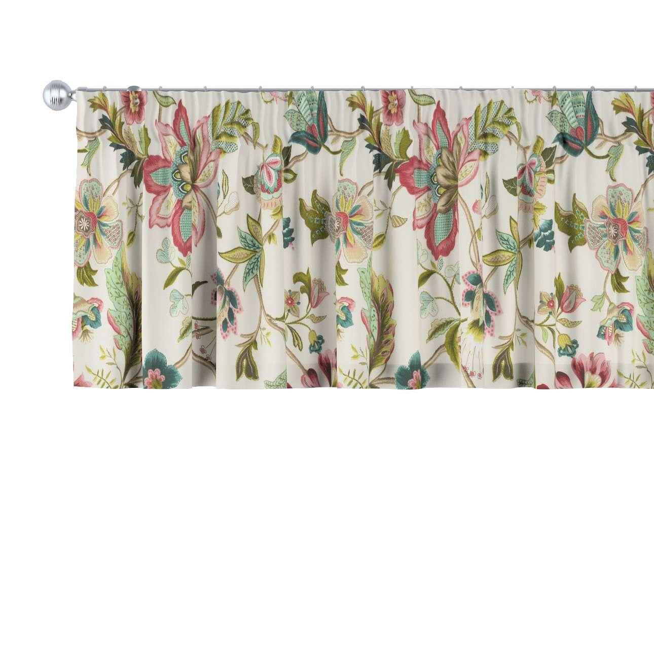 Lambrekin na taśmie marszczącej 130 x 40 cm w kolekcji Londres, tkanina: 122-00