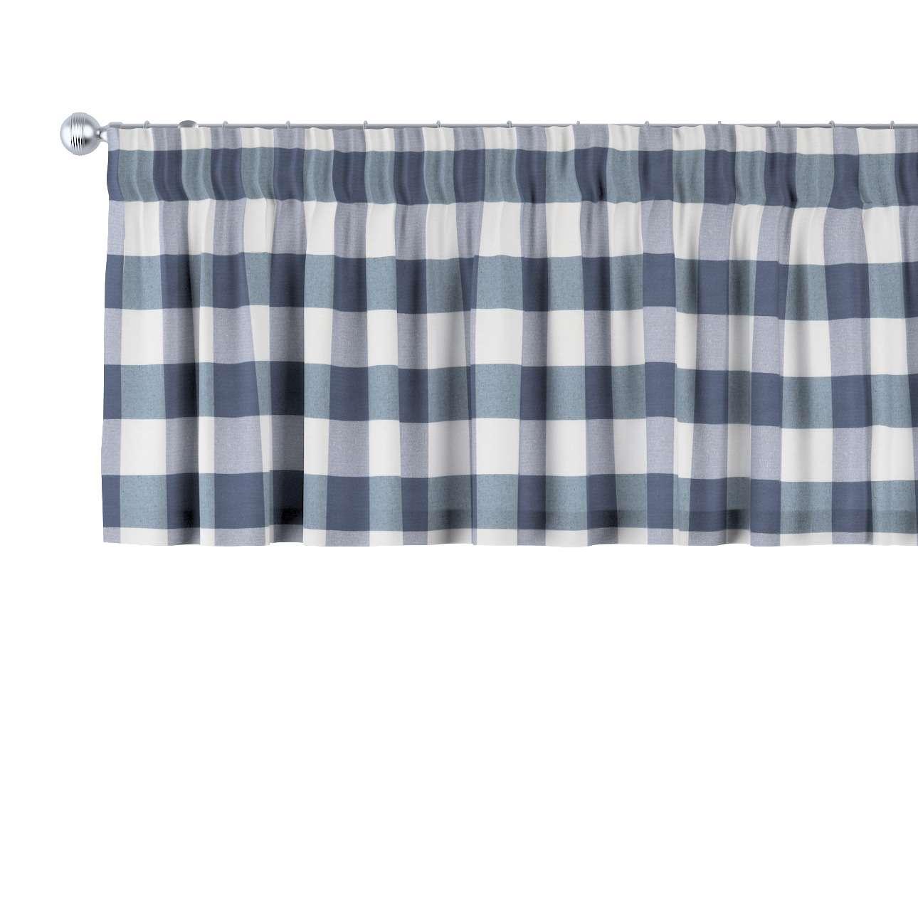 Krátky záves na riasiacej páske V kolekcii Quadro, tkanina: 136-03