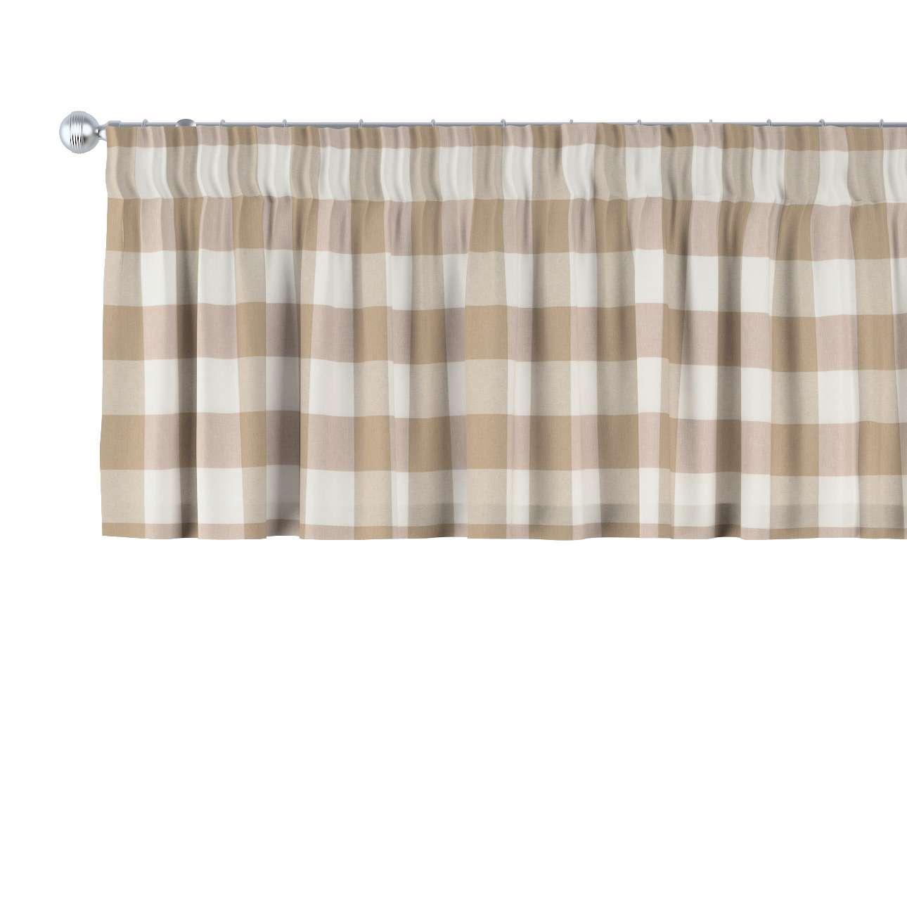 Krátky záves na riasiacej páske 130 x 40 cm V kolekcii Quadro, tkanina: 136-08