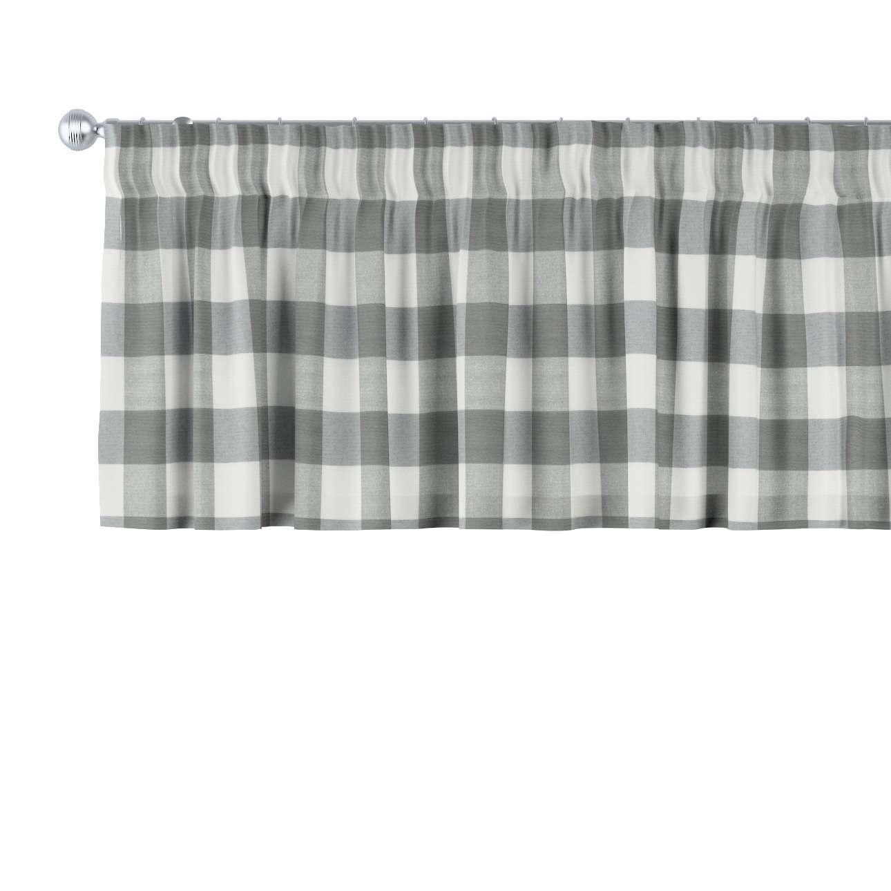 Krátky záves na riasiacej páske V kolekcii Quadro, tkanina: 136-13