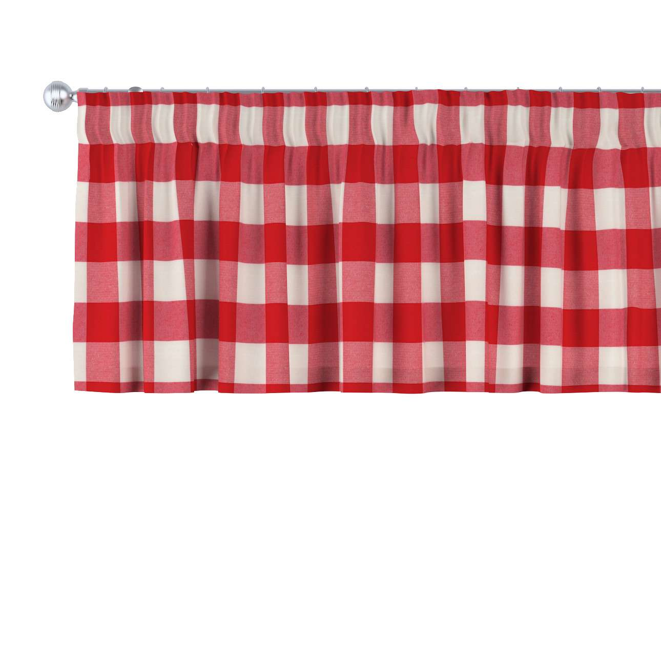 Pencil pleat pelmet 130 × 40 cm (51 × 16 inch) in collection Quadro, fabric: 136-18