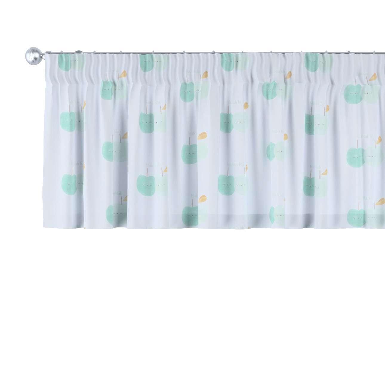 Pencil pleat pelmet 130 × 40 cm (51 × 16 inch) in collection Apanona, fabric: 151-02