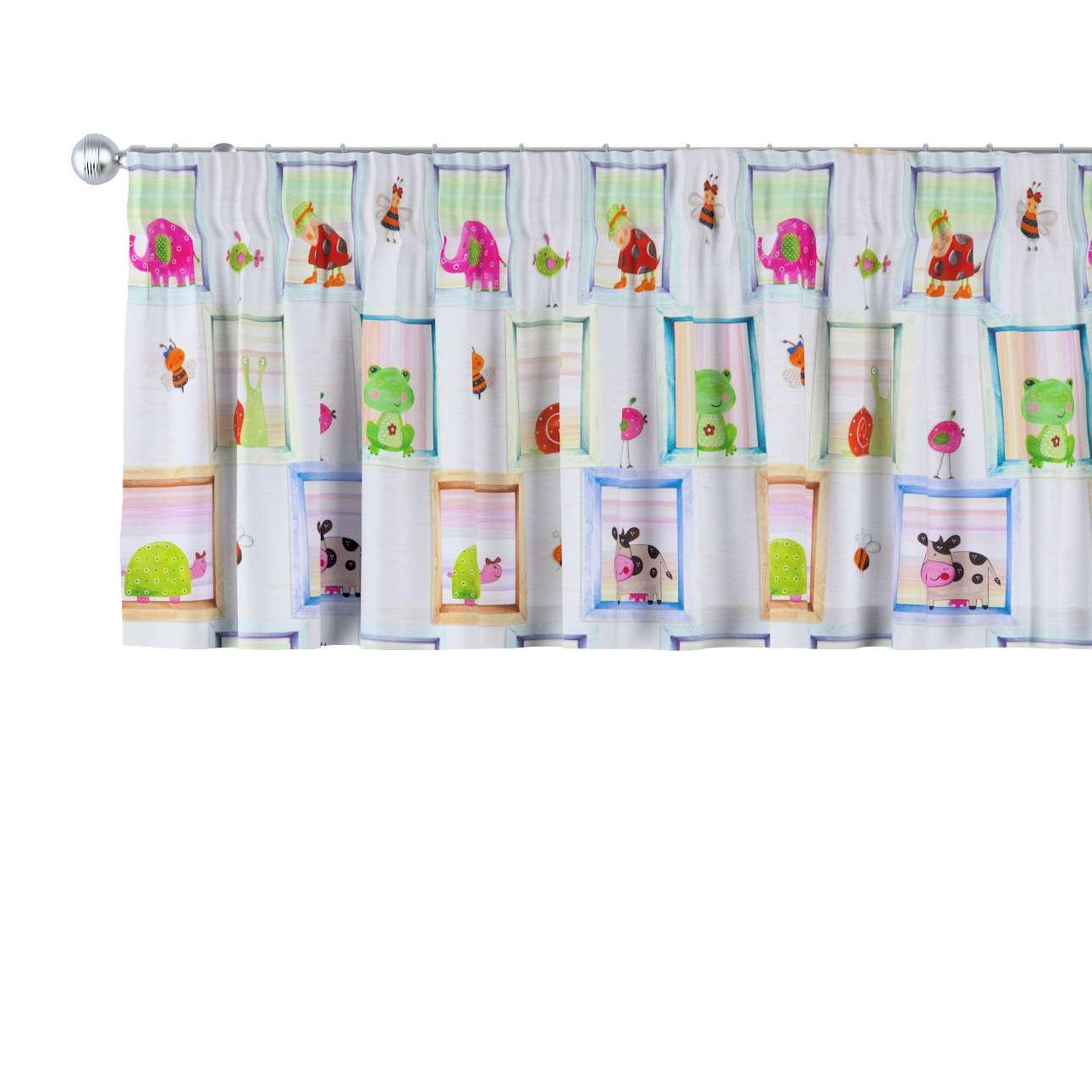 Pencil pleat pelmet 130 x 40 cm (51 x 16 inch) in collection Apanona, fabric: 151-04