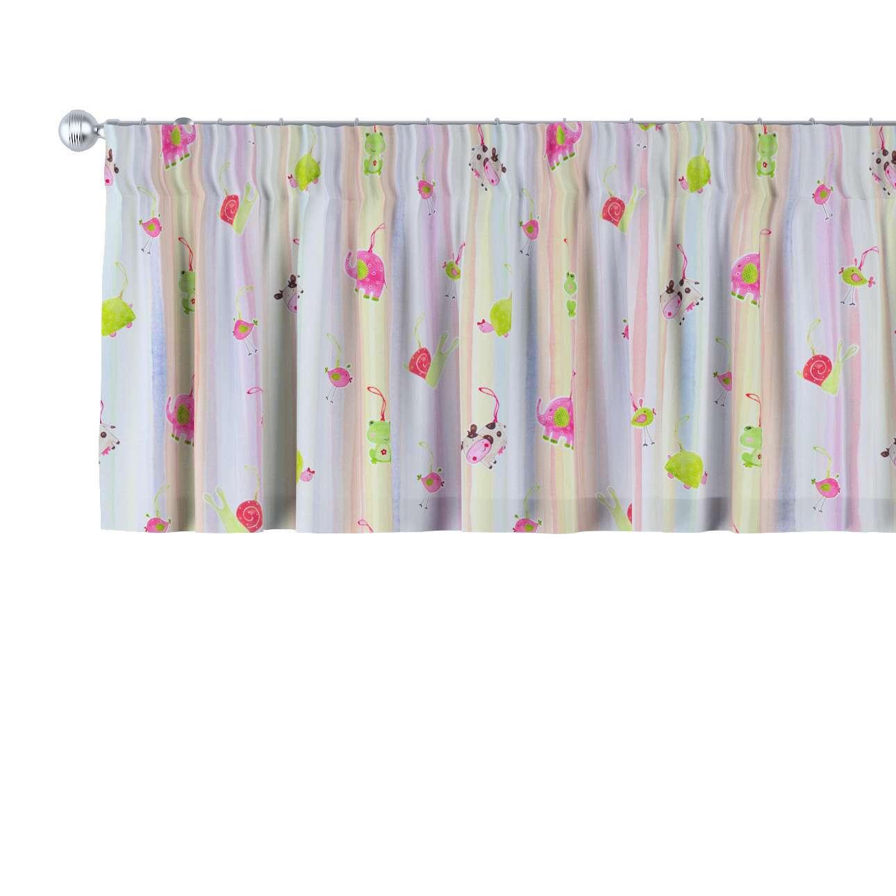 Krátky záves na riasiacej páske V kolekcii Little World, tkanina: 151-05