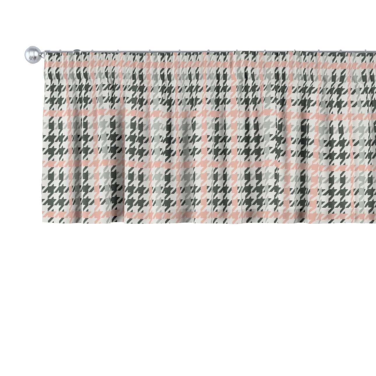 Trumpa užuolaidėlė (lambrekenas) pieštukinis klostavimas 130 x 40 cm kolekcijoje Brooklyn, audinys: 137-75