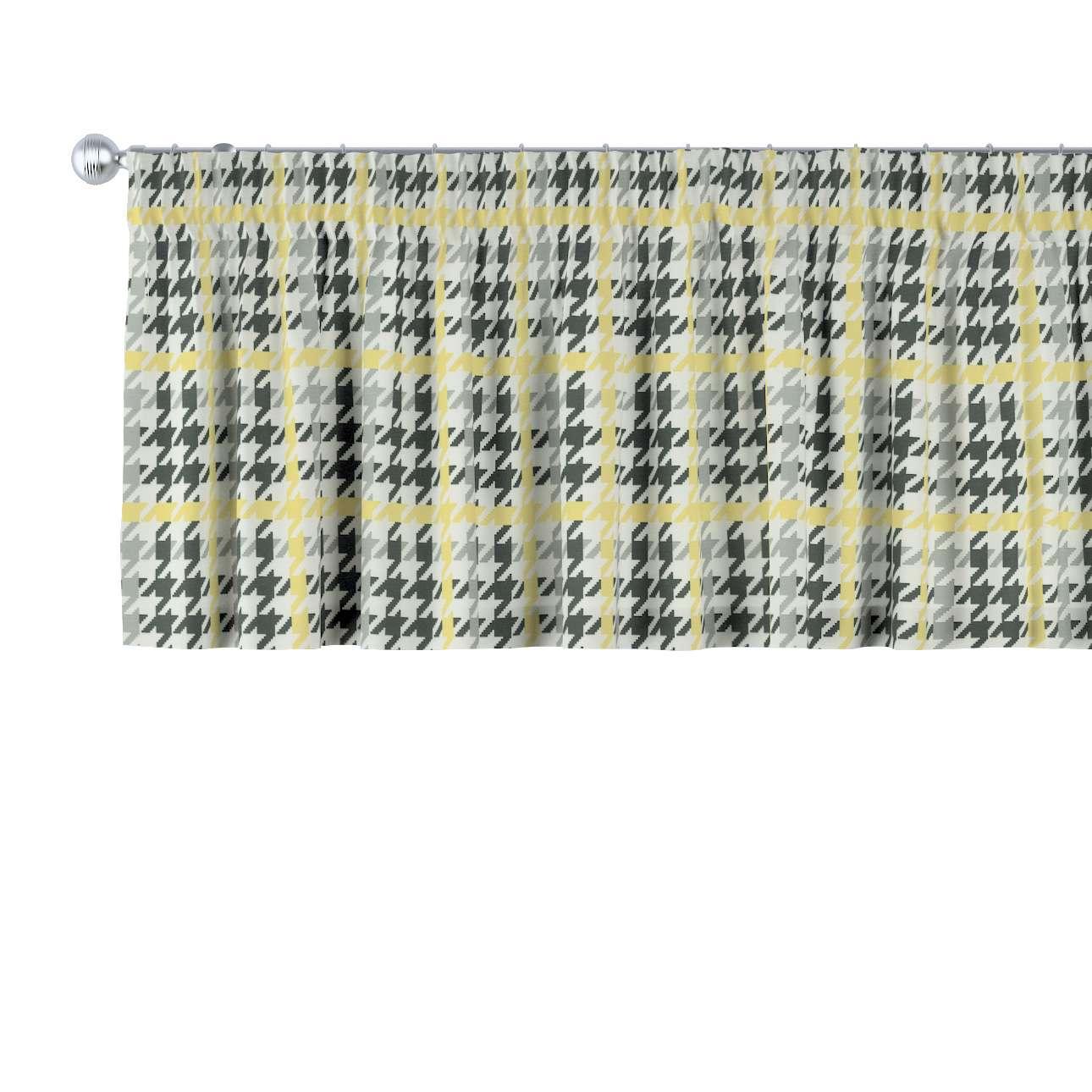 Krátky záves na riasiacej páske V kolekcii Brooklyn, tkanina: 137-79