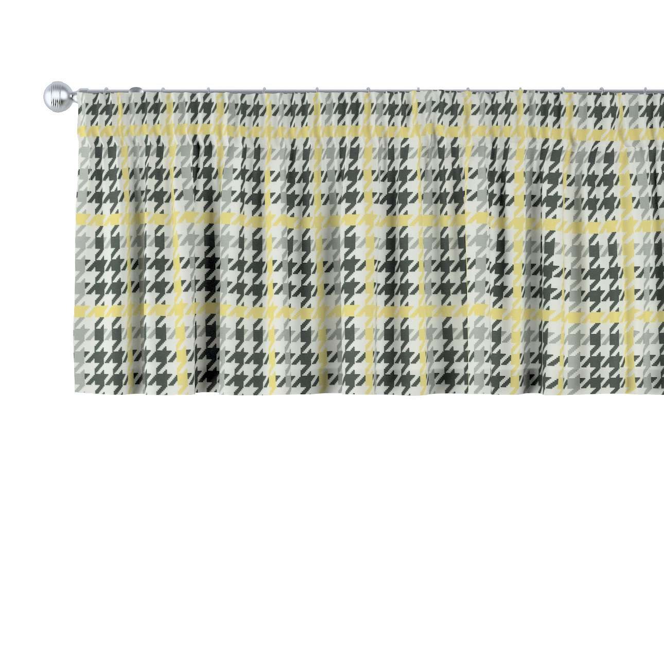 Pencil pleat pelmet 130 × 40 cm (51 × 16 inch) in collection Brooklyn, fabric: 137-79