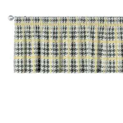 Gardinkappe med rynkebånd og løpegang H40cm 137-79 Naturhvit med print Kolleksjon RESTSALG