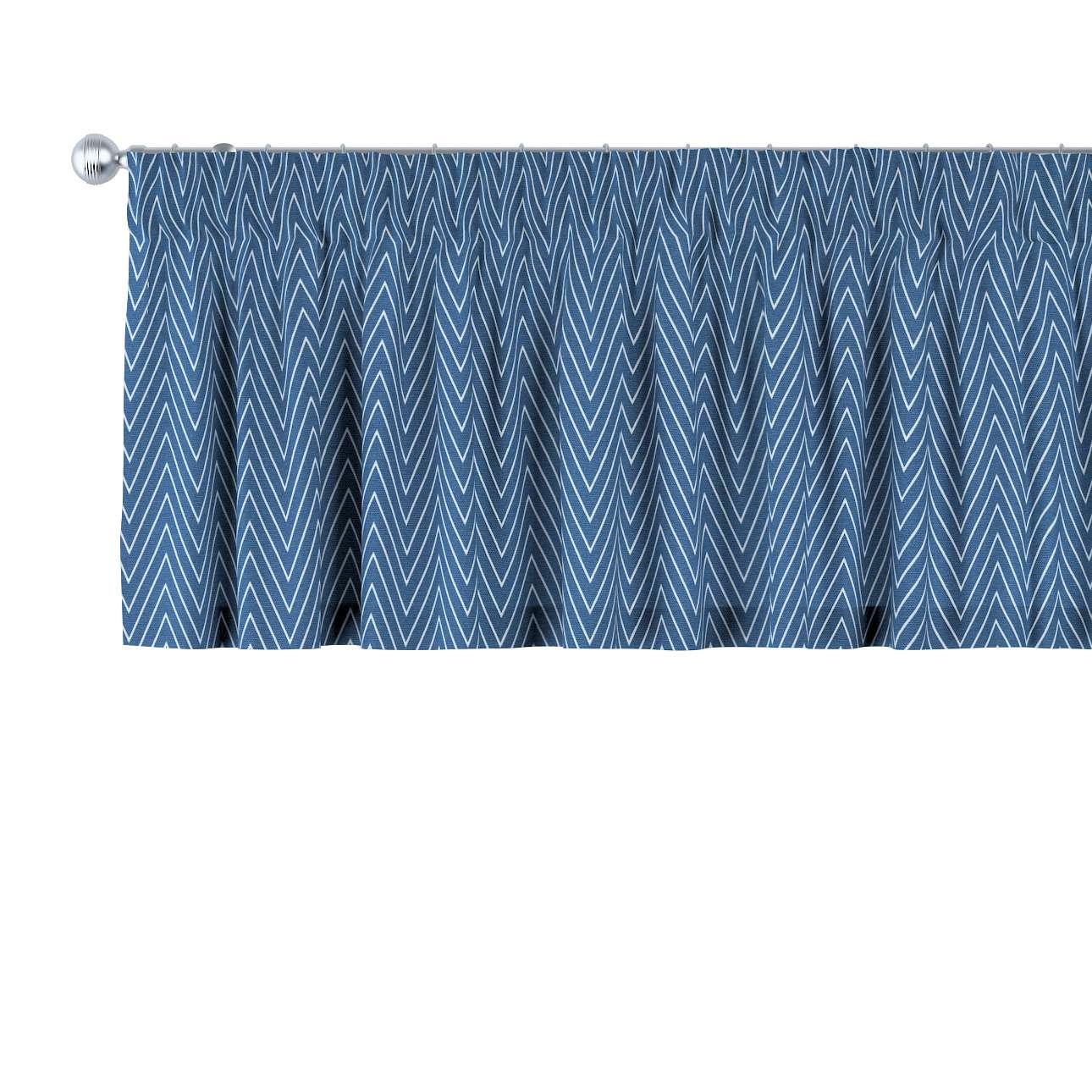 Gardinkappe med rynkebånd 130 × 40 cm fra kolleksjonen Brooklyn , Stoffets bredde: 137-88
