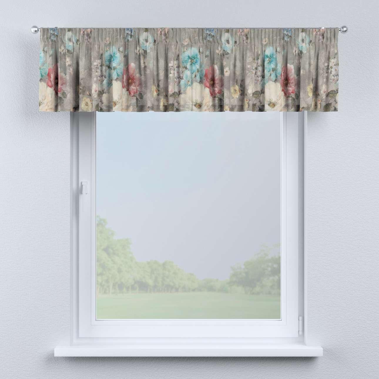 Krátky záves na riasiacej páske 130 x 40 cm V kolekcii Monet, tkanina: 137-81