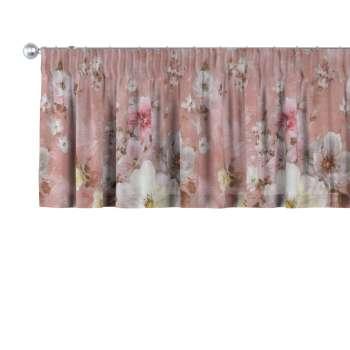 Gardinkappe med rynkebånd og løpegang H40cm fra kolleksjonen Monet , Stoffets bredde: 137-83