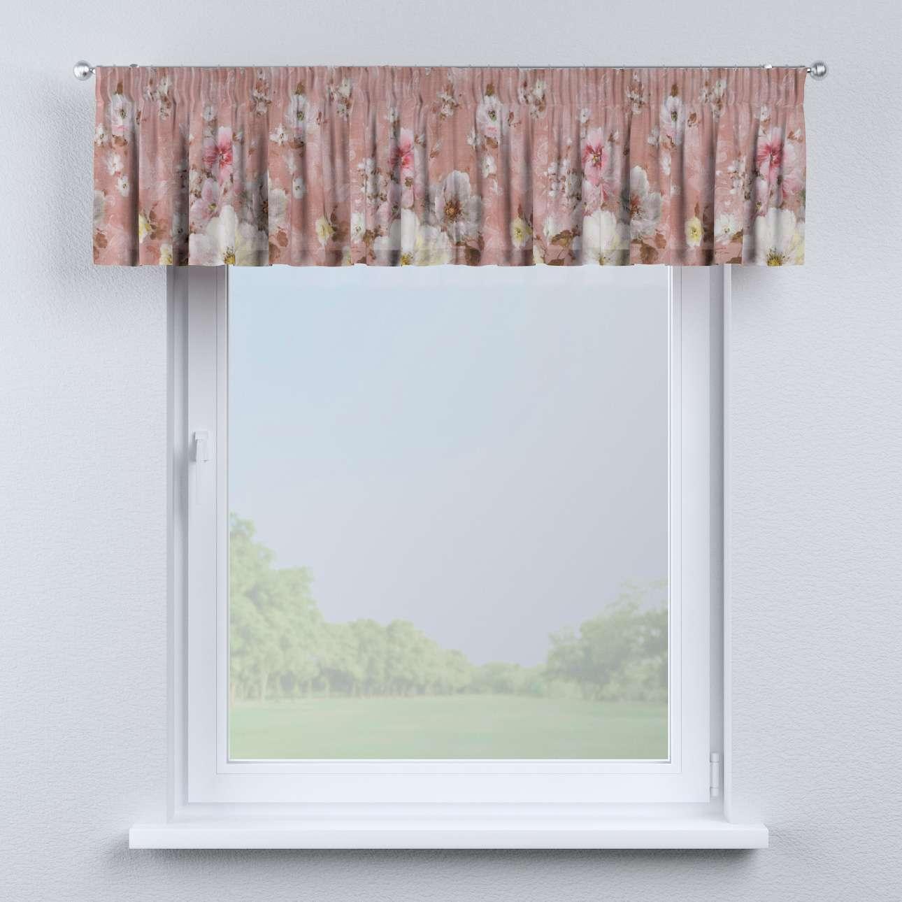 Krátky záves na riasiacej páske V kolekcii Flowers, tkanina: 137-83