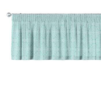 Pencil pleat pelmet 130 x 40 cm (51 x 16 inch) in collection Flowers, fabric: 140-37