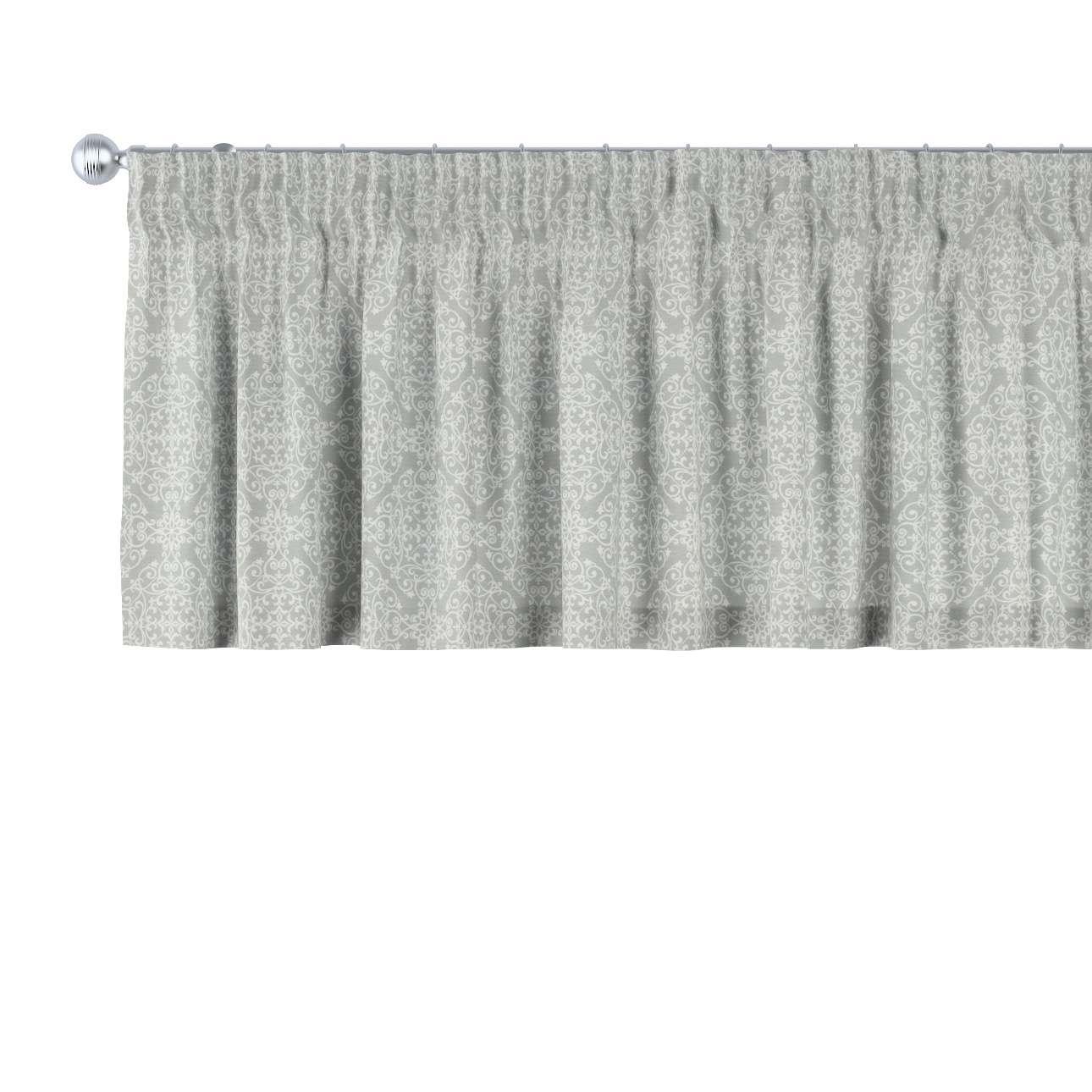 Gardinkappa med rynkband i kollektionen Flowers, Tyg: 140-38