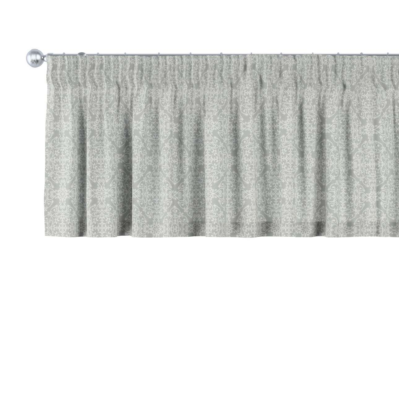 Pencil pleat pelmet 130 x 40 cm (51 x 16 inch) in collection Flowers, fabric: 140-38