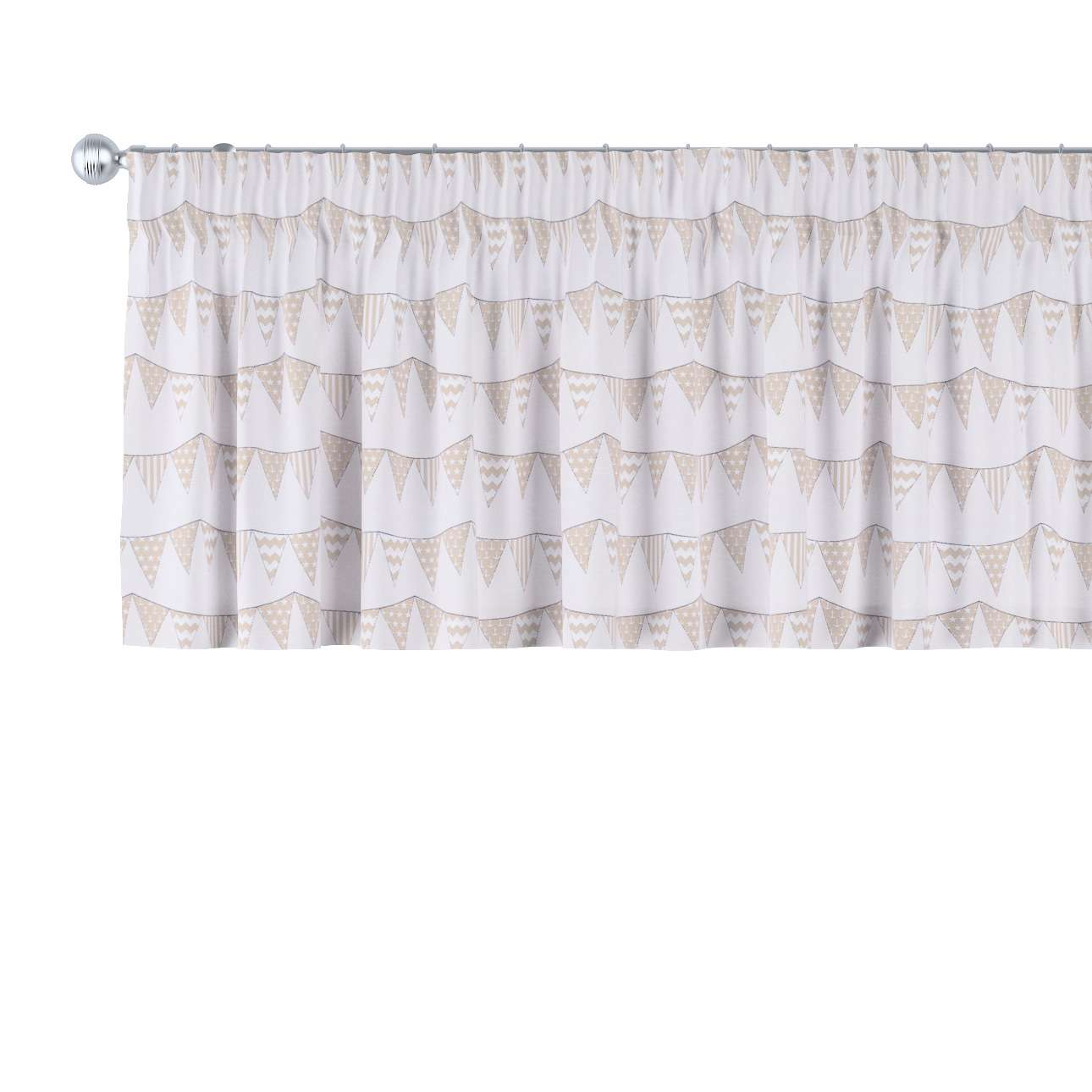 Pencil pleat pelmet 130 x 40 cm (51 x 16 inch) in collection Marina, fabric: 140-65