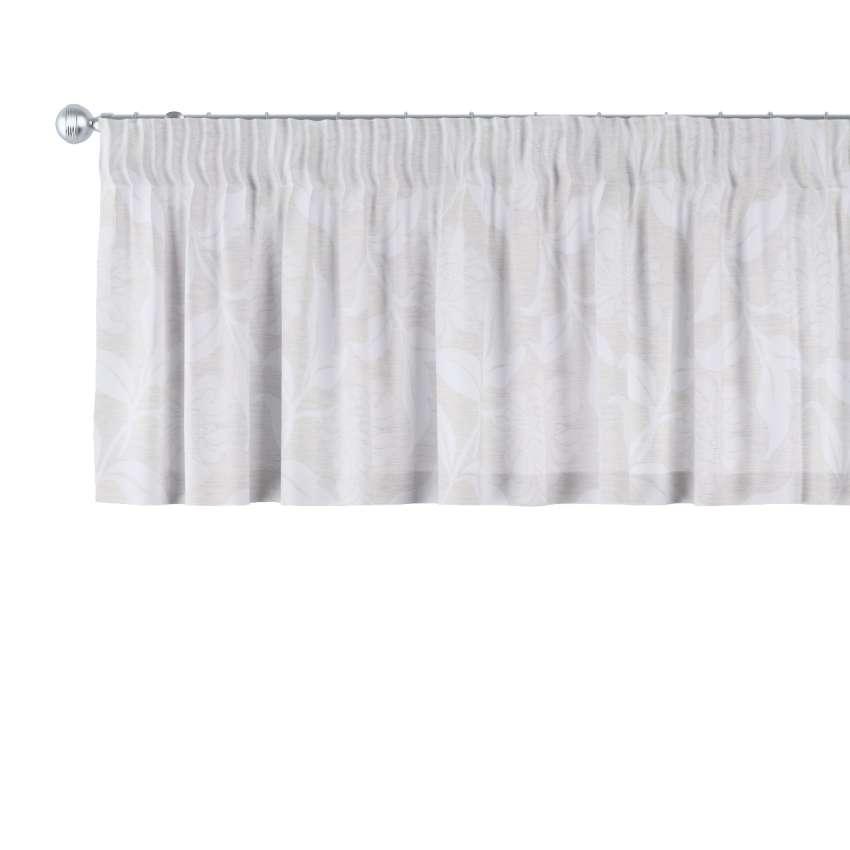 kurzgardine mit kr uselband grau 130 x 40 cm dekoria. Black Bedroom Furniture Sets. Home Design Ideas