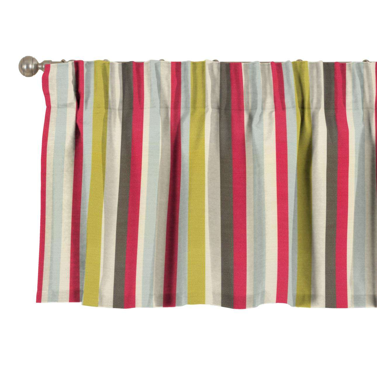 Pencil pleat pelmet 130 x 40 cm (51 x 16 inch) in collection Flowers, fabric: 140-81