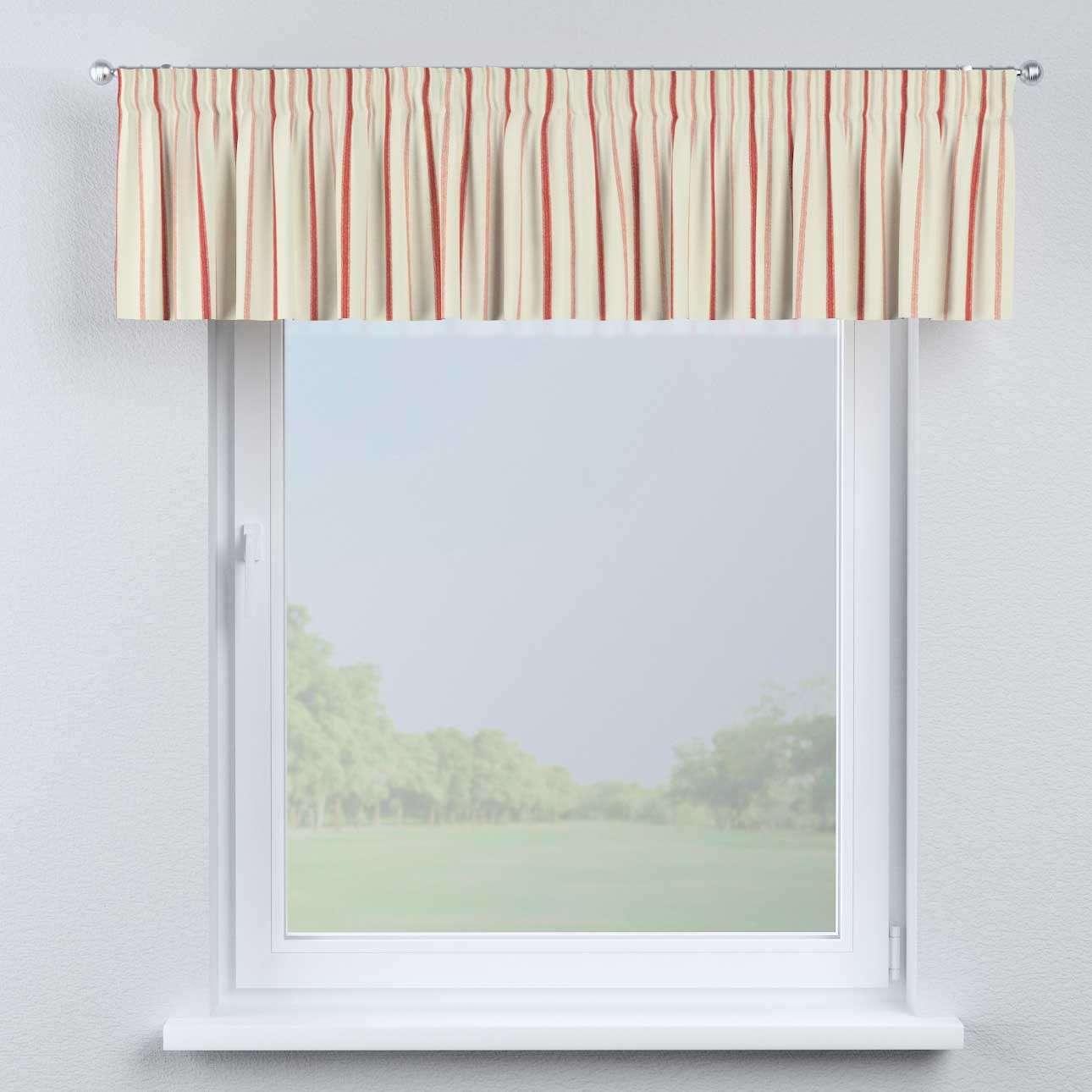 Pencil pleat pelmet 130 × 40 cm (51 × 16 inch) in collection Avinon, fabric: 129-15