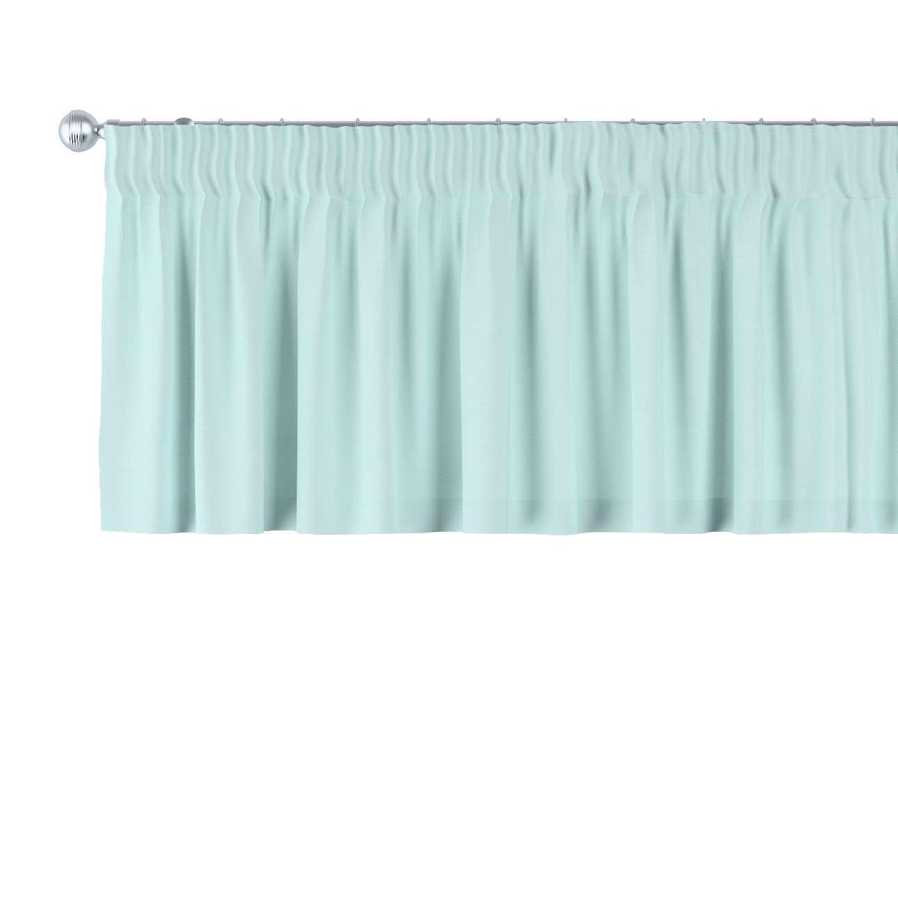 Krátky záves na riasiacej páske V kolekcii Cotton Panama, tkanina: 702-10
