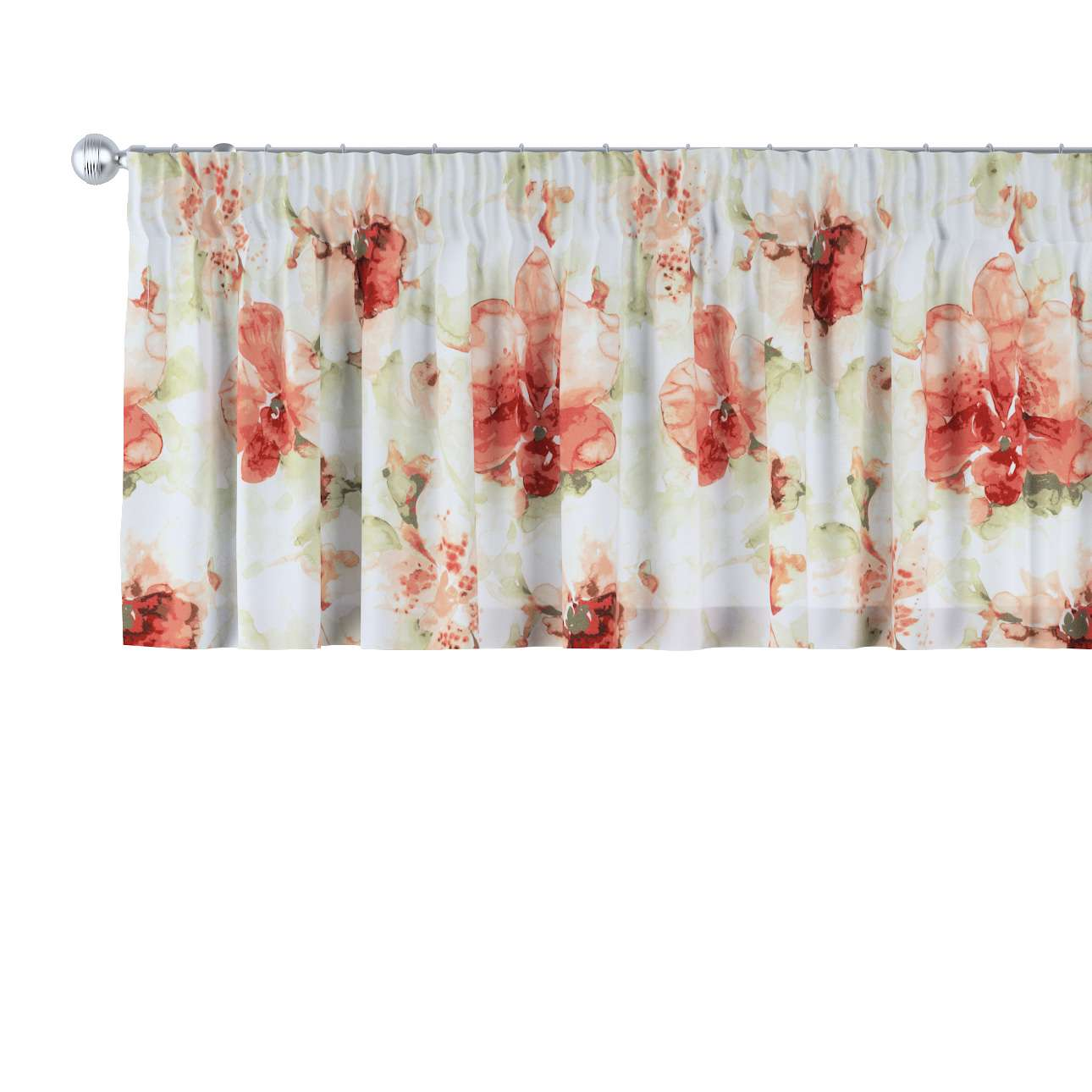 Pencil pleat pelmet in collection Acapulco, fabric: 141-34