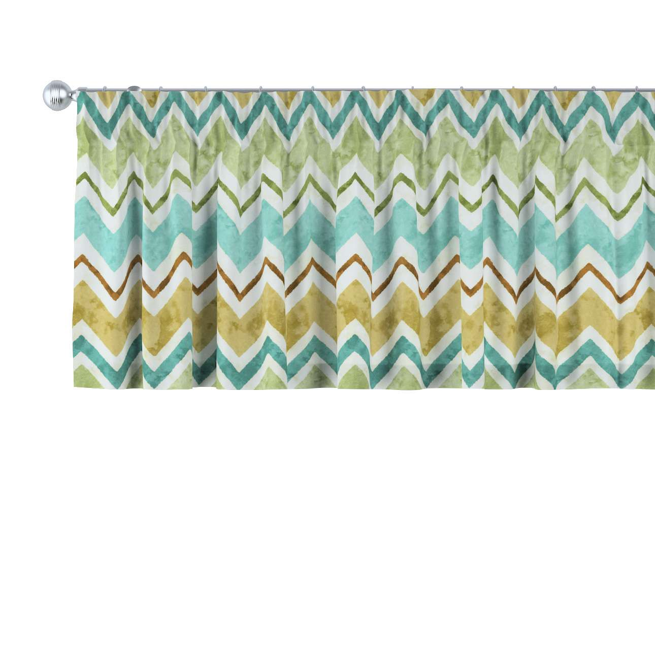 Pencil pleat pelmet in collection Acapulco, fabric: 141-41