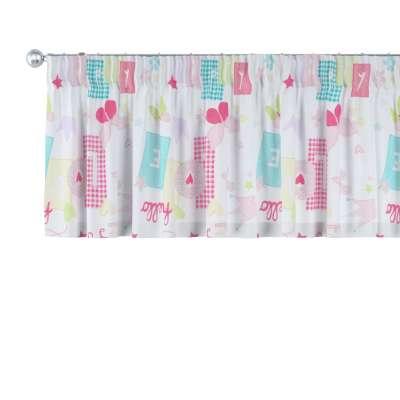 Pencil pleat pelmet 141-51 pastel pattern of white background Collection Little World