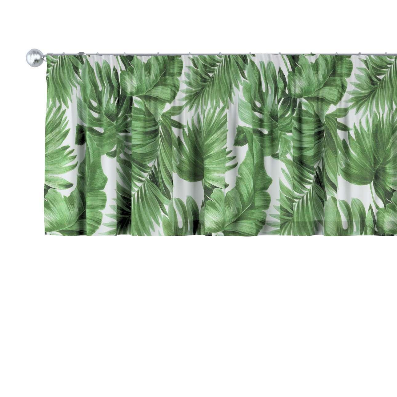 Gardinkappe med rynkebånd fra kolleksjonen Urban Jungle, Stoffets bredde: 141-71