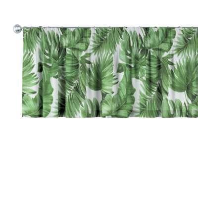 Gardinkappe med rynkebånd og løpegang H40cm fra kolleksjonen Tropical Island, Stoffets bredde: 141-71