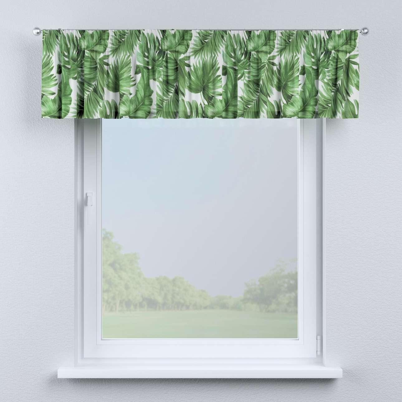 Krátky záves na riasiacej páske 130 × 40 cm V kolekcii Urban Jungle, tkanina: 141-71